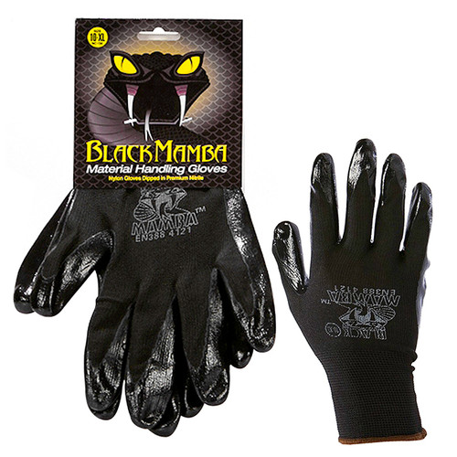 Black Mamba Polyurethane-Dipped Gloves • XXL Plumbing Supplies Tankless Parts