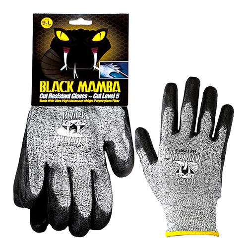 "Black Mamba ""Level 5"" Cut Resistant Gloves • MEDIUM Plumbing Supplies Tankless Parts"