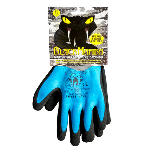 Black Mamba Waterproof Nitrile-Dipped Gloves • XXL Plumbing Supplies Tankless Parts