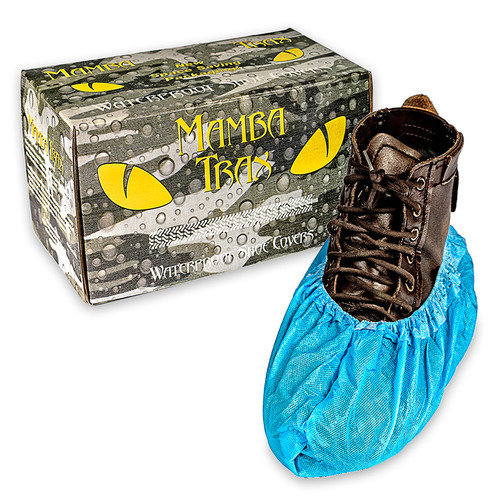 Black Mamba TRAX™ Disposable Waterproof Shoe Covers Plumbing Supplies Tankless Parts