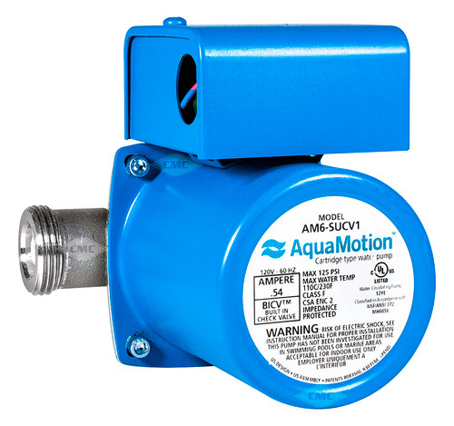 Aquamotion® Wet Rotor Circulator Pump: Union/Half Union (AM6-SUCV1) Plumbing Supplies Tankless Parts