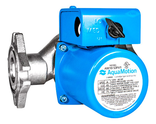 Aquamotion® Wet Rotor Circulator Pump: Universal 4-Bolt Flange (AM10-S3FV1) Plumbing Supplies Tankless Parts