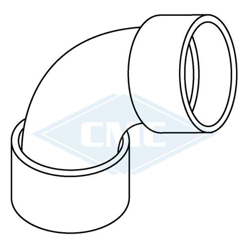 IPEX© System 1738® PVC Flue Gas Vent 90º Elbow (2 sizes)