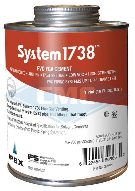 IPEX© System 1738® Low VOC PVC Cement - Quart