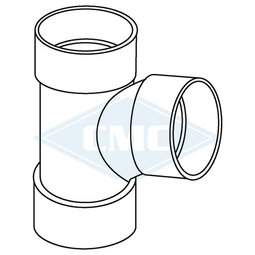 IPEX© System 1738® PVC Flue Gas Vent Tee-Wye (3 sizes)