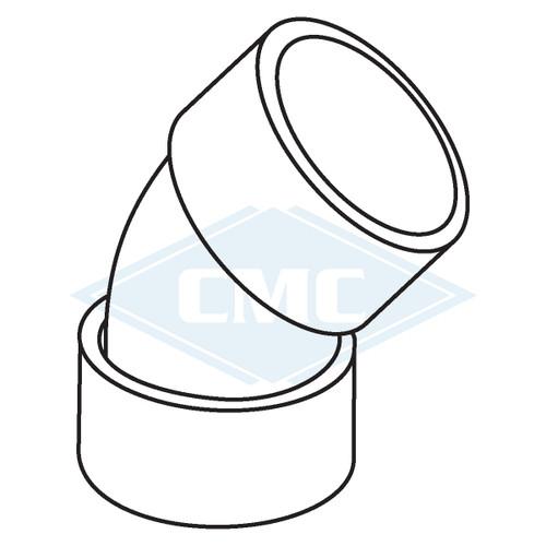 IPEX© System 1738® PVC Flue Gas Vent 45º Elbow (3 sizes)