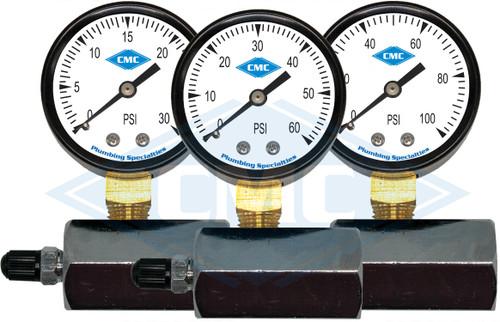 "2"" Gas Pressure Gauge Set (3 PSI options)"
