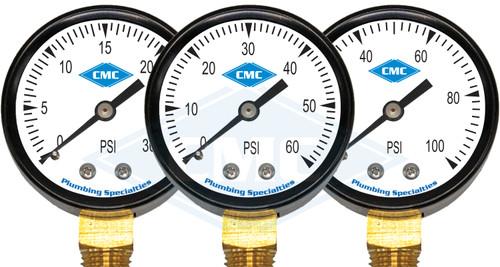 "2"" Gas Pressure Gauge (3 PSI options)"