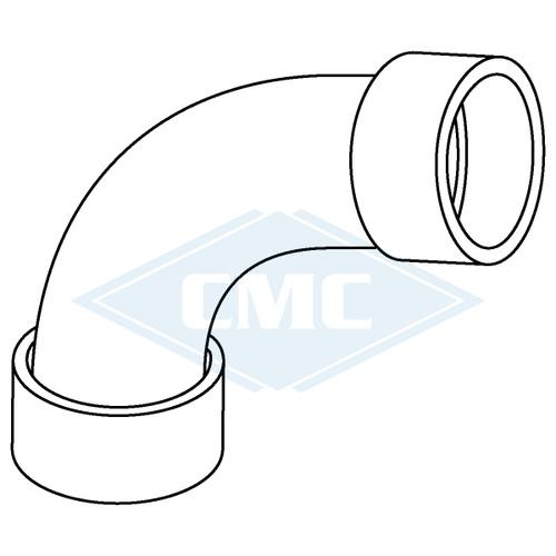 IPEX© System 1738® PVC Flue Gas Vent 90º Long Elbow (3 sizes)