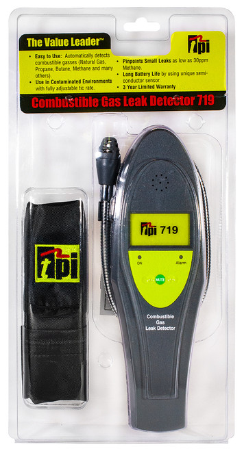 TPI 719 Combustible Gas Leak Detector Hang Pack Plumbing Supplies