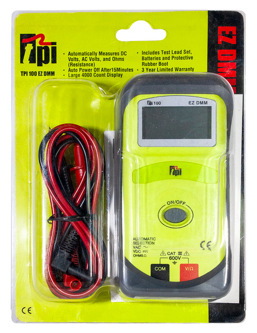 TPI Automatic Digital Multimeter Hang Pack Plumbing Supplies