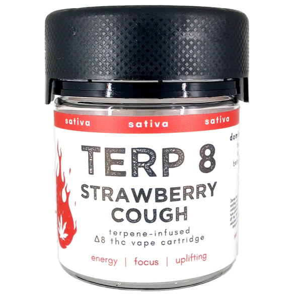 Strawberry Cough Delta-8 THC Vape Cartridge Terp 8