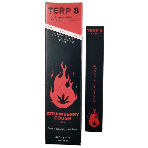 Strawberry Cough Disposable Delta-8 Dab Pen Terp 8