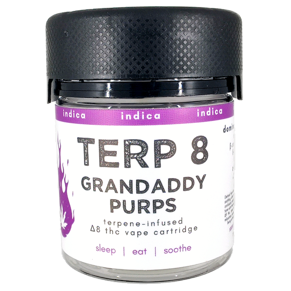Grandaddy Purps Delta-8 Vape Cartridge Terp 8