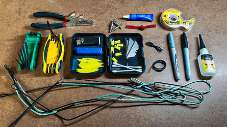 ASSEMBLE AN EMERGENCY FIELD REPAIR KIT FOR ARCHERY HUNTING