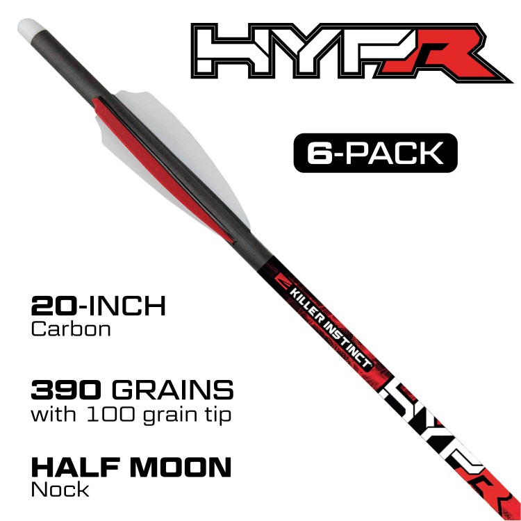 "HYPR™ 20"" CROSSBOLTS 6 PACK"
