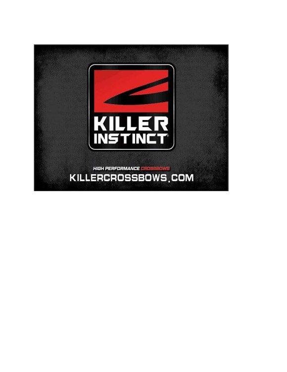 The 2020 Killer Instinct banner is 4 foot by 3 foot in size and includes grommets in each corner.