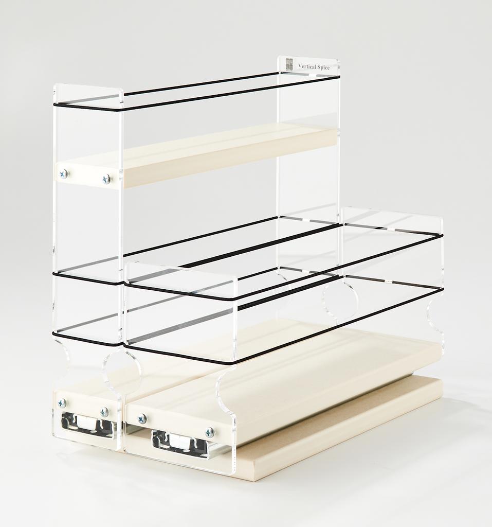 23x1.5x11 Spice Rack Combo Drawers Cream