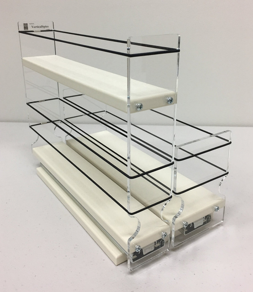 "23x1.5x11 Spice Rack Combo Drawers Unit: 5.75"" wide x 9.25"" tall x 10.6"" depth Drawers: (1) 2.1"" wide x 10.05"" long and (1) 3.25"" wide x 10.05"" long"