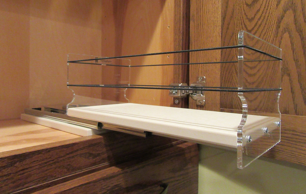 5x1x11 Spice Rack, Cream - Empty Drawer Out