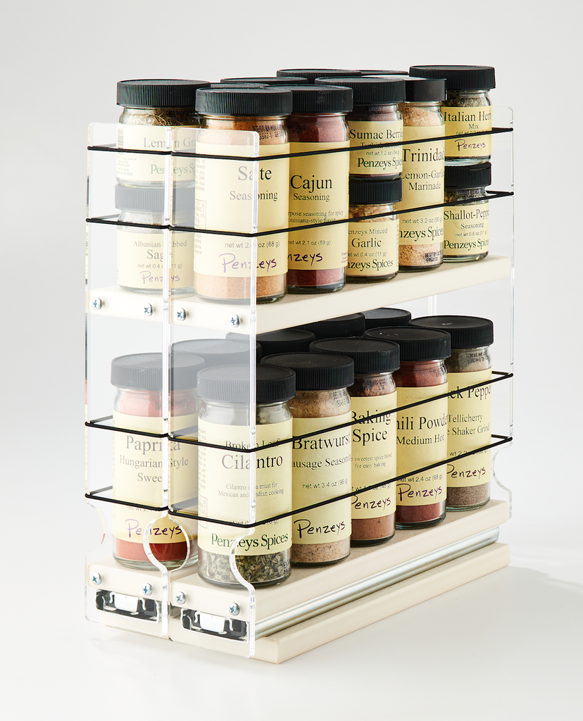 22x2x11 Spice Rack Cream Holds 20 Spices in Compact Space