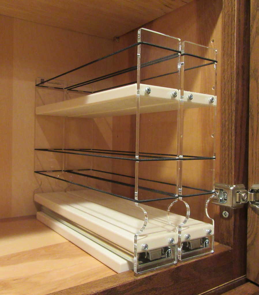Spice Rack 22 x 1.5 x 11, Cream - Empty Drawers in