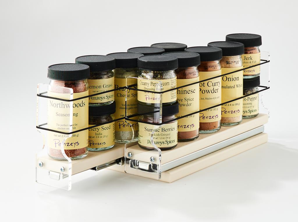 22x1x11 Spice Rack Cream - 2 Independent Drawers