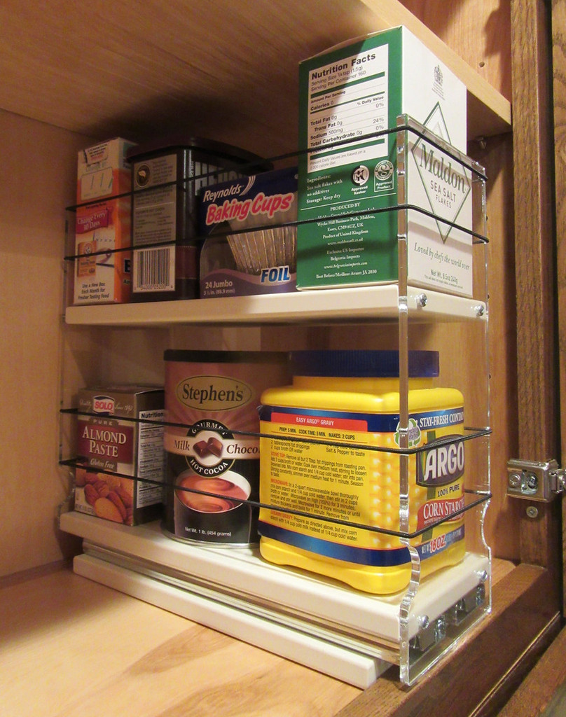 Spice Rack 4 x 2 x 11, Cream - Loaded In Cabinet