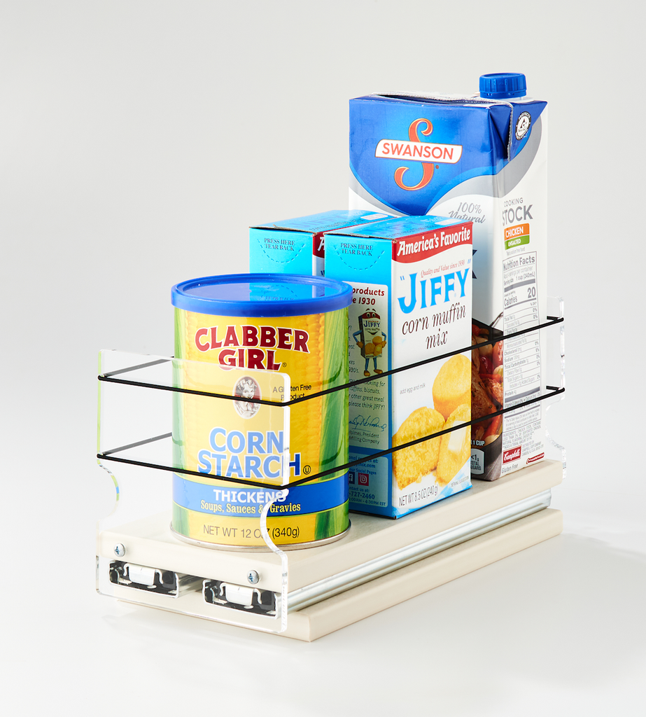 4 x 1 x 11 Storage Solution Drawer Cream - Access to Your Full Cabinet Depth