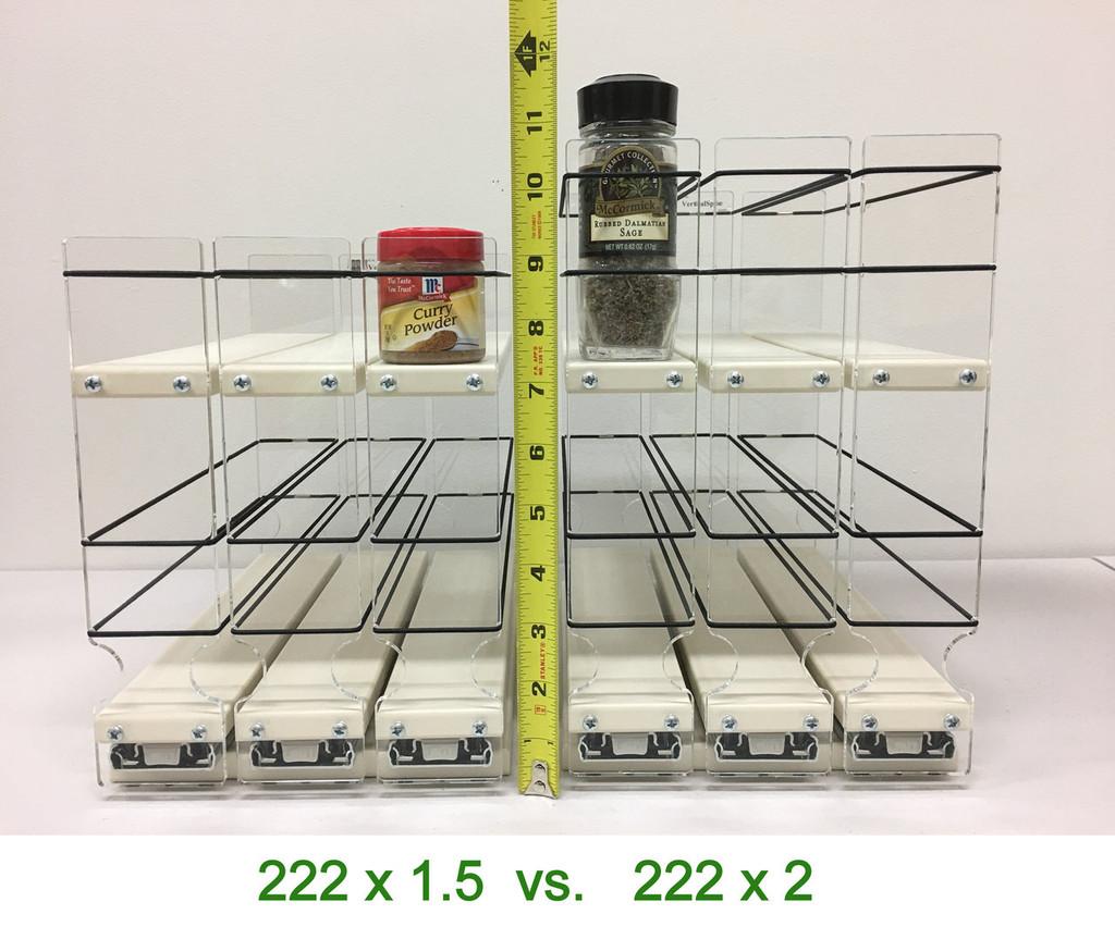 Spice Rack 2x2x11, Cream - Compare to 2x1.5x11