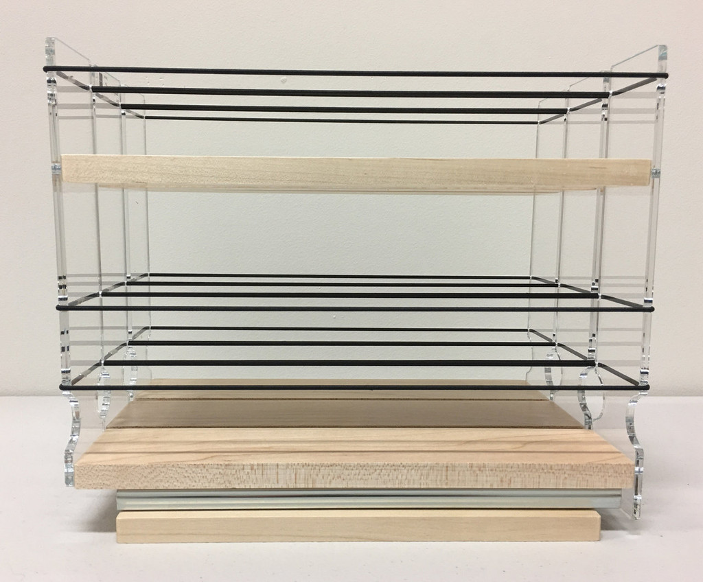 222x1.5x11 Spice Rack, Maple - Side View