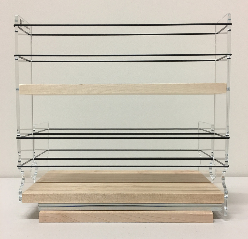 23x2x11 Spice Rack Combo Drawers, Maple - Side View