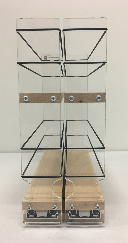 22x2x11 Spice Rack, Maple - Front View