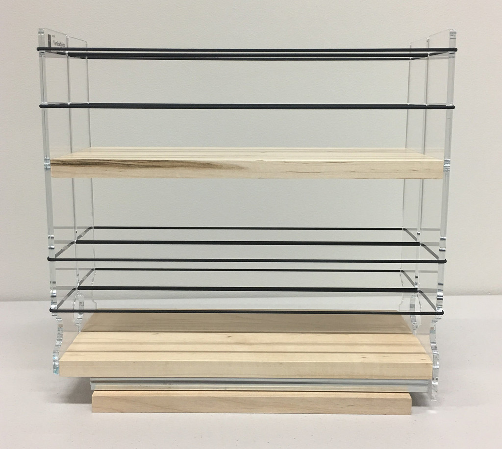 22x2x11 Spice Rack, Maple - Side View