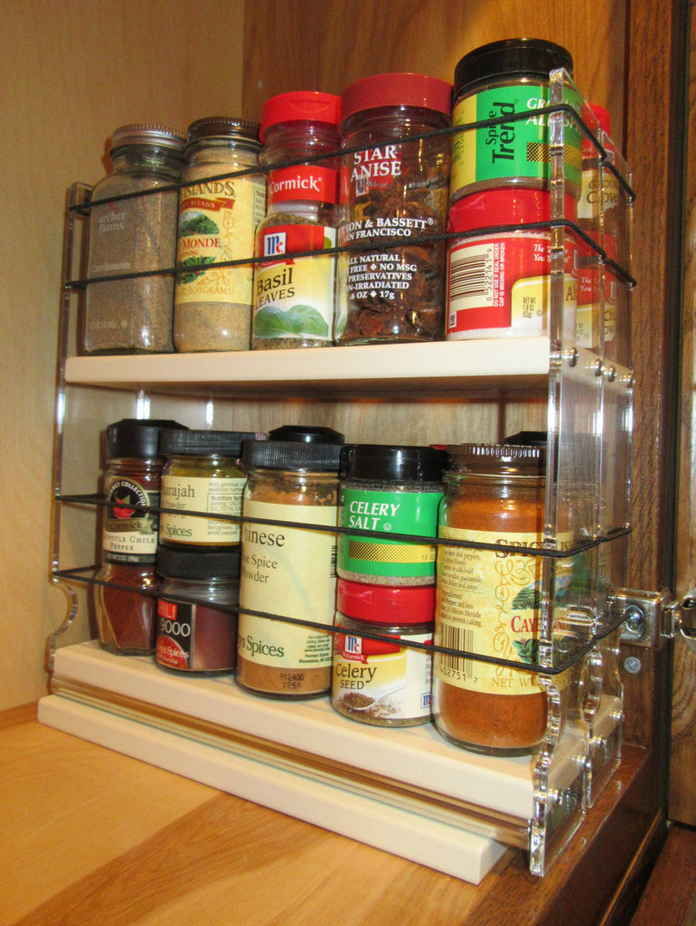 22x2x11 Spice Rack, Cream - In Cabinet
