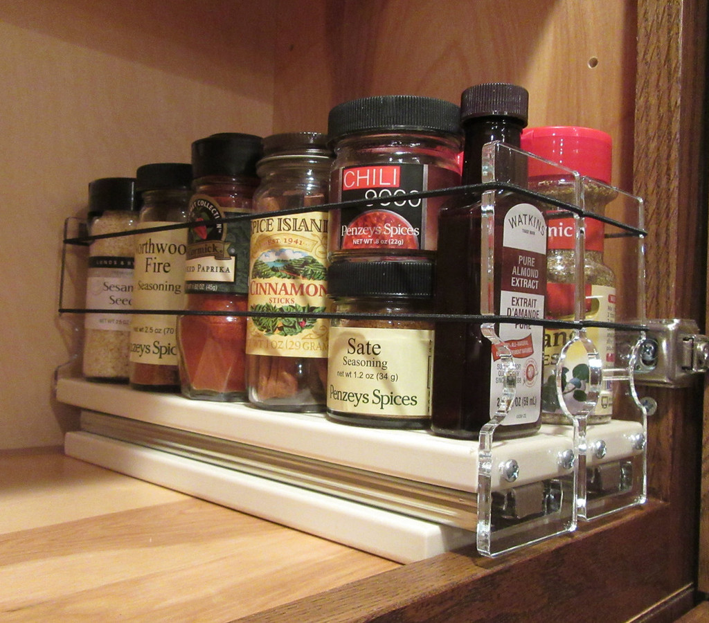 Spice Rack 22x1x11 Cream Loaded with Product by Vertical Spice