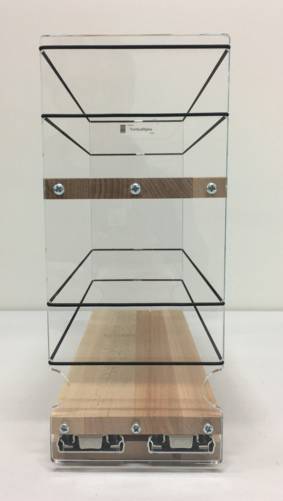 4x2x11 Spice Rack, Maple - Front View