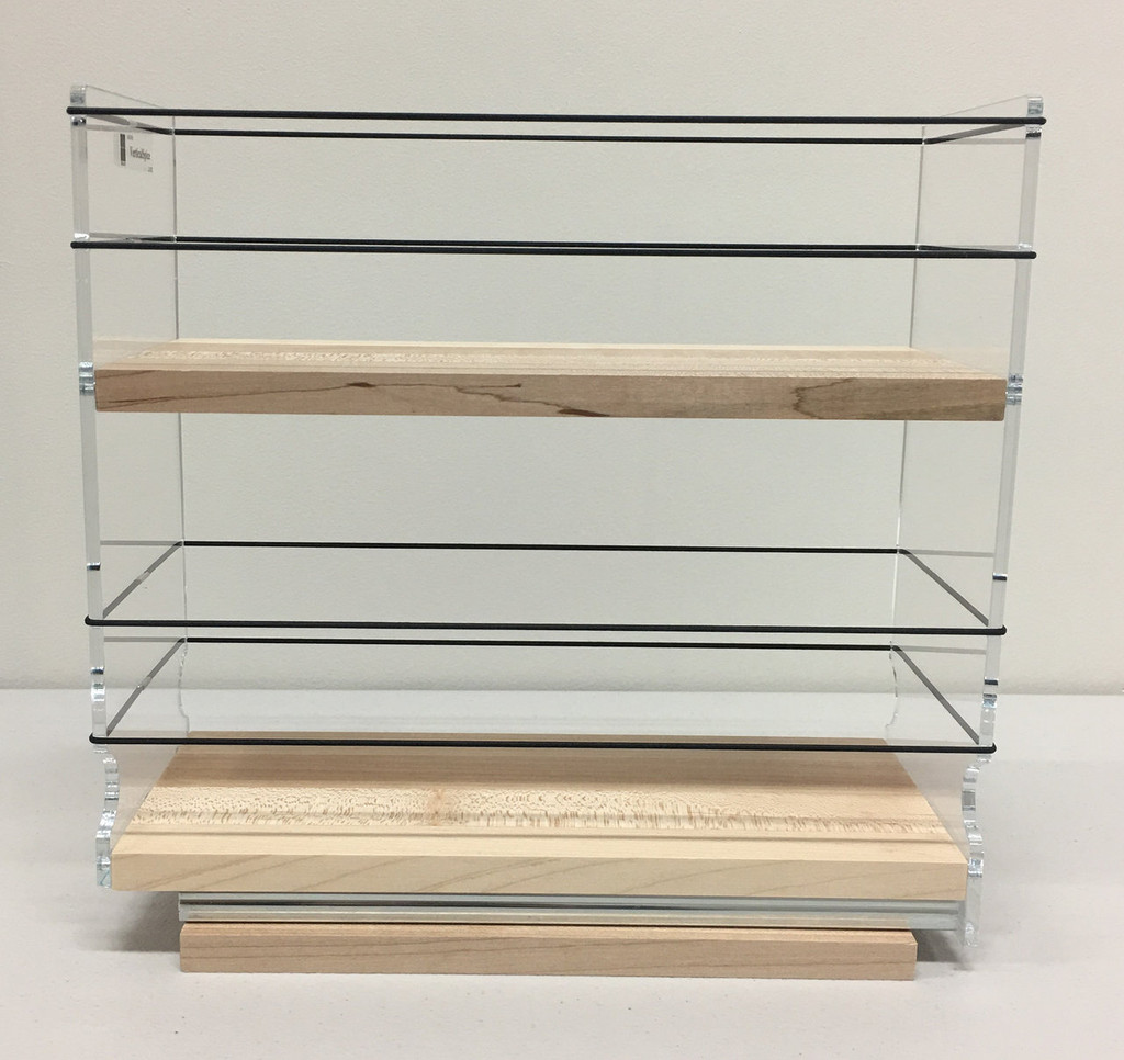 4x2x11 Spice Rack, Maple - Side View