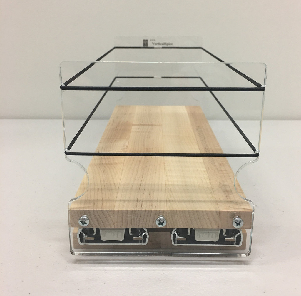4x1x11 Spice Rack, Maple - Front View