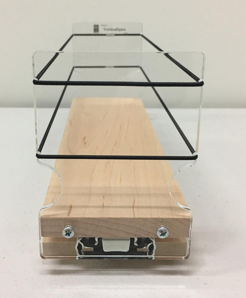 3x1x11 Spice Rack, Maple - Front View Empty