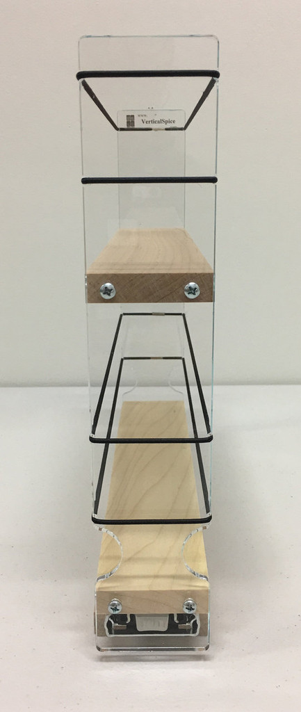 2x2x11 Spice Rack, Maple - Front View