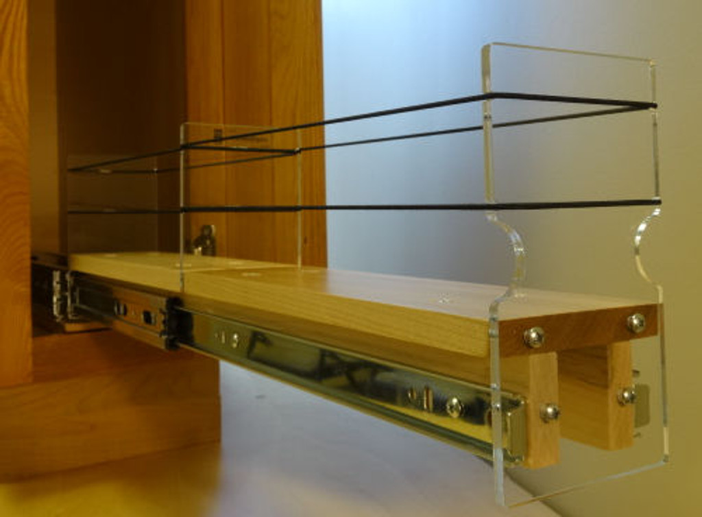 3x1x22 Spice Rack Drawer - Maple - Drawer Out