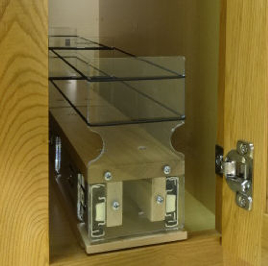 3x1x22 Spice Rack Drawer - Maple - In Cabinet
