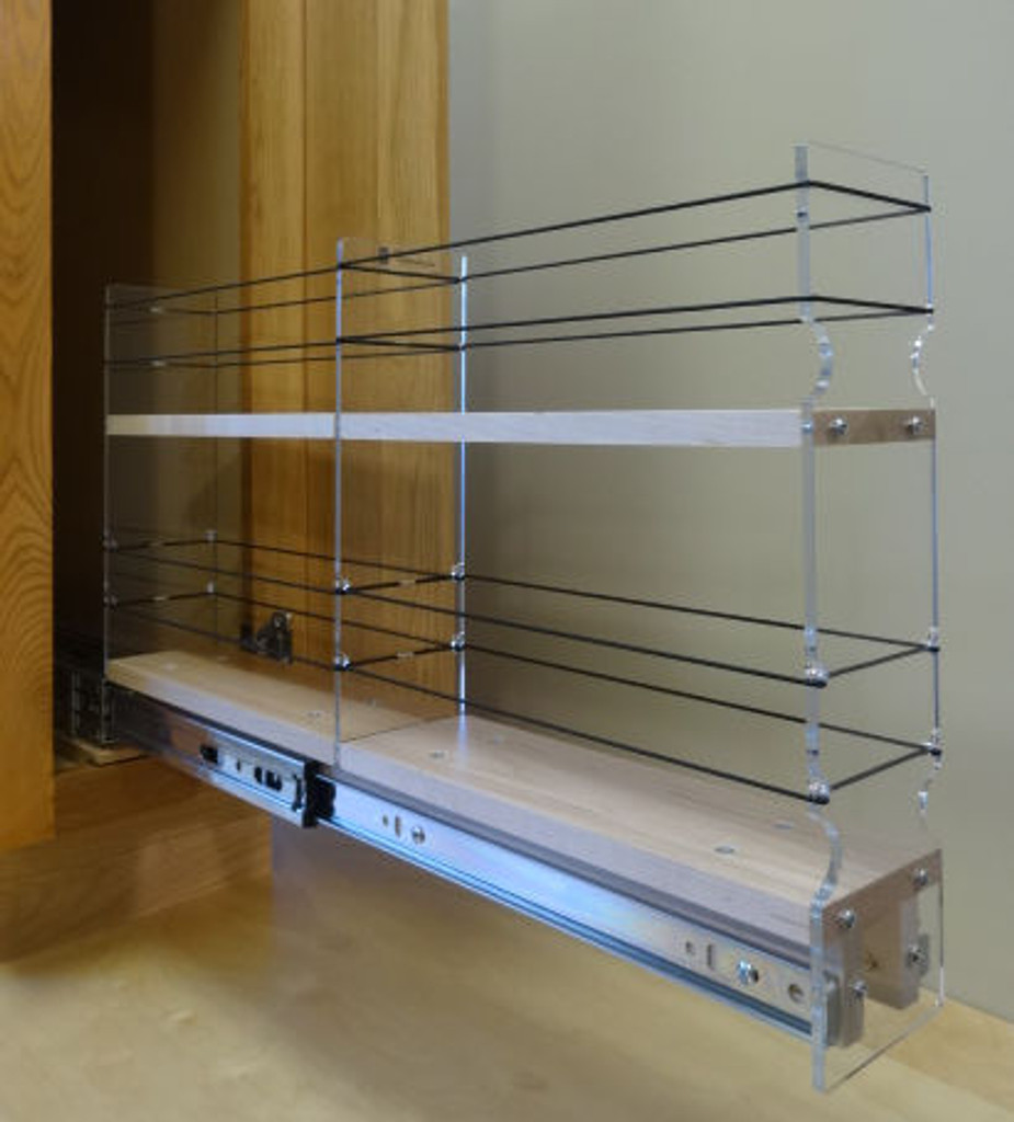 3x2x22 Spice Rack Drawer - Maple, Extended, Empty