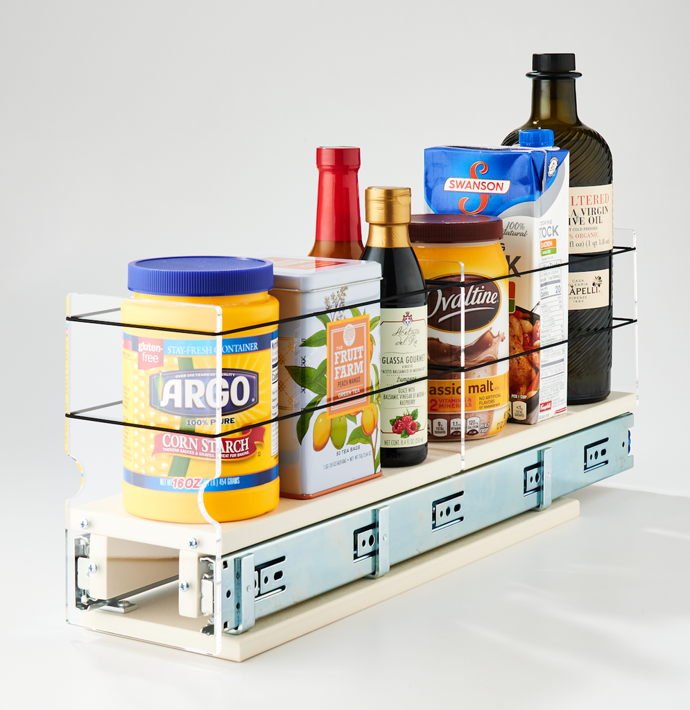 Spice Rack 4x1x22 Cream - Store and Find a Variety of Containers