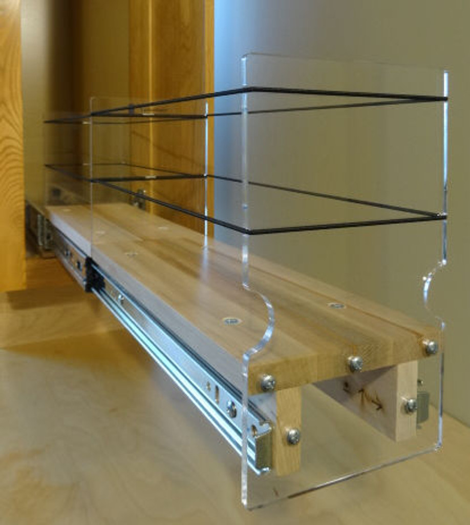 Spice Rack 4x1x22, Maple - Empty Drawer Out