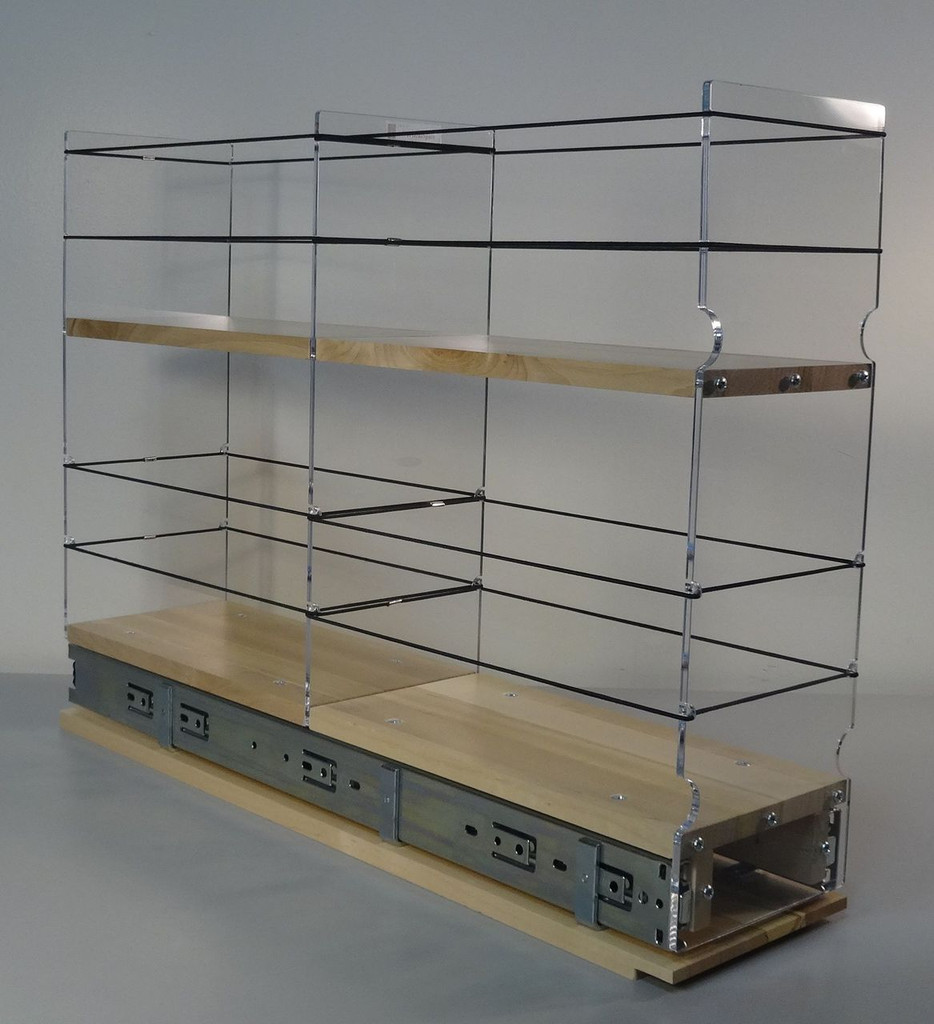 "5x2x22 Storage Solution Drawer - Maple Unit: 5.75"" wide x 16.52"" tall x 22.1"" depth Drawers: (1) 2 sections each 5.55"" wide x 10.7"" long"