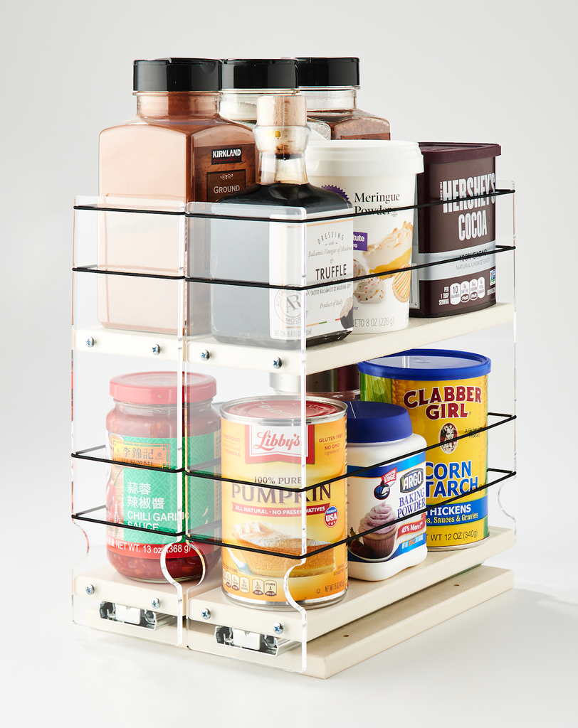 """33x2x11 Spice Rack Cream Organize Containers Up to 3.25"""""""