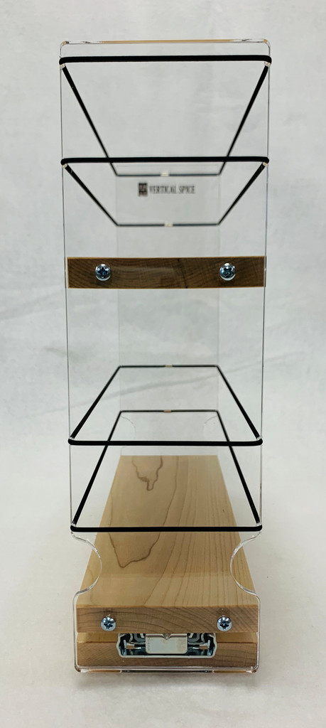 Spice Rack 3x2x11, Maple, Front View