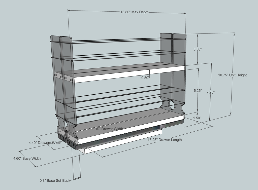 22x2x14 DC Dimensioned